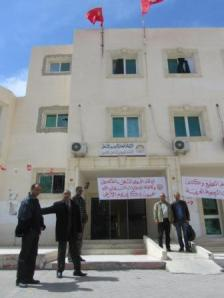 The offices of the UGTT union federation in Kasserine, where many of the protests happened