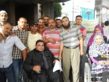 Education workers in Zagazig during their sit-in