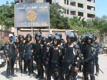 Riot police surround Suez Steel factory as army arrests strike leaders 12 August 2013 via RevSoc.me on Facebook
