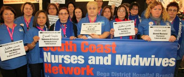 Australian solidarity with Bahraini health care workers